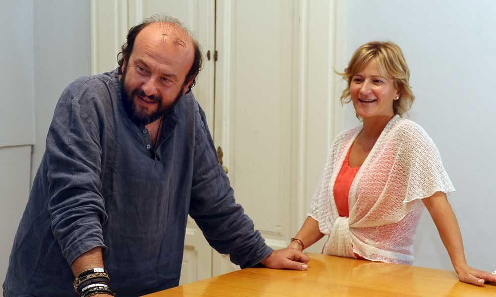 Con Davide Rondoni. ph di Simone Comi