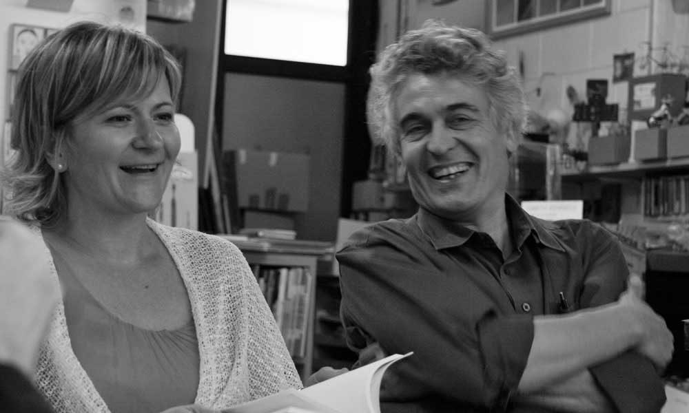 con Fabio Pusterla – scatto di Enrico Porro