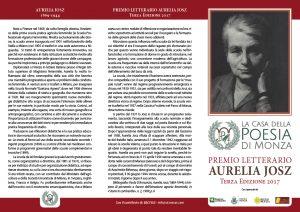 Premio Aurelia Josz 2017 - Clicca immagine per Pieghevole completo