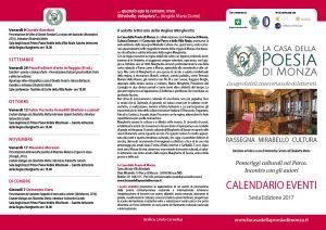 La Casa della Poesia di Monza Rassegna Mirabello 2017