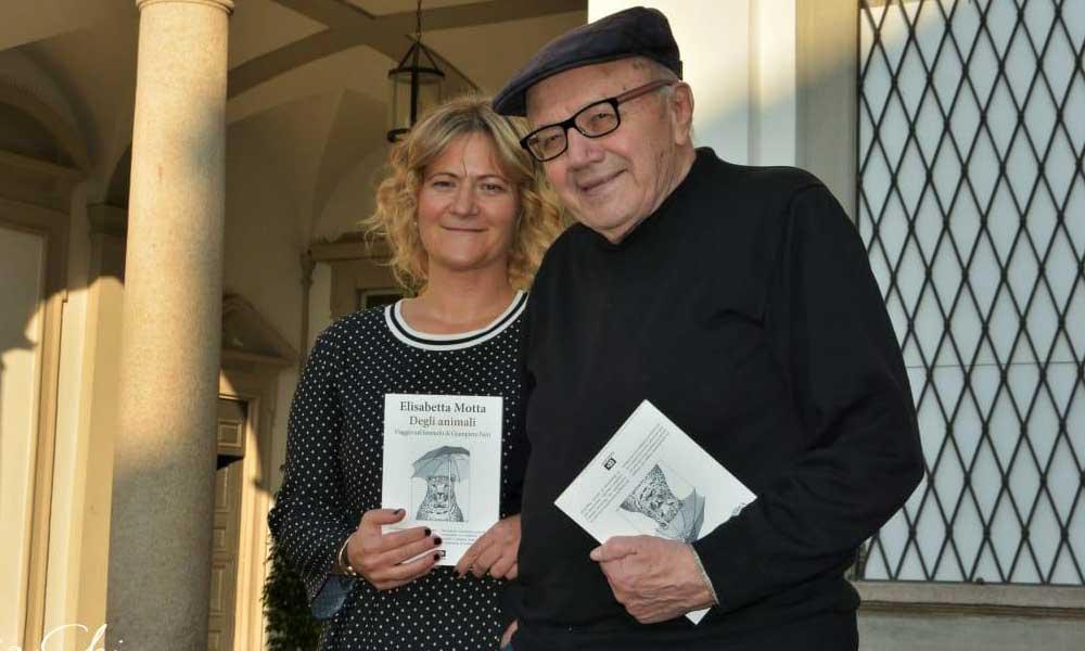 Elisabetta Motta con Giampiero Neri -Villa Mirabello