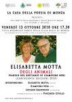 La Casa della Poesia di Monza - loc Mirabello 12.10.18 Presentazione 13 dicembre 2018 Invito: Elisabetta Motta DEGLI ANIMALI. Viaggio nel bestiario di Giampiero Neri (Cartacanta, 2018)