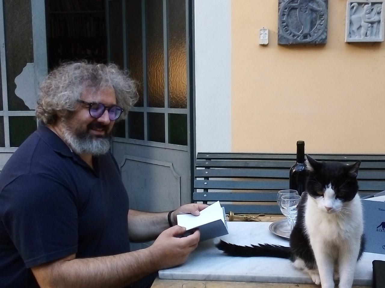 Tiziano Fratus con Zeus