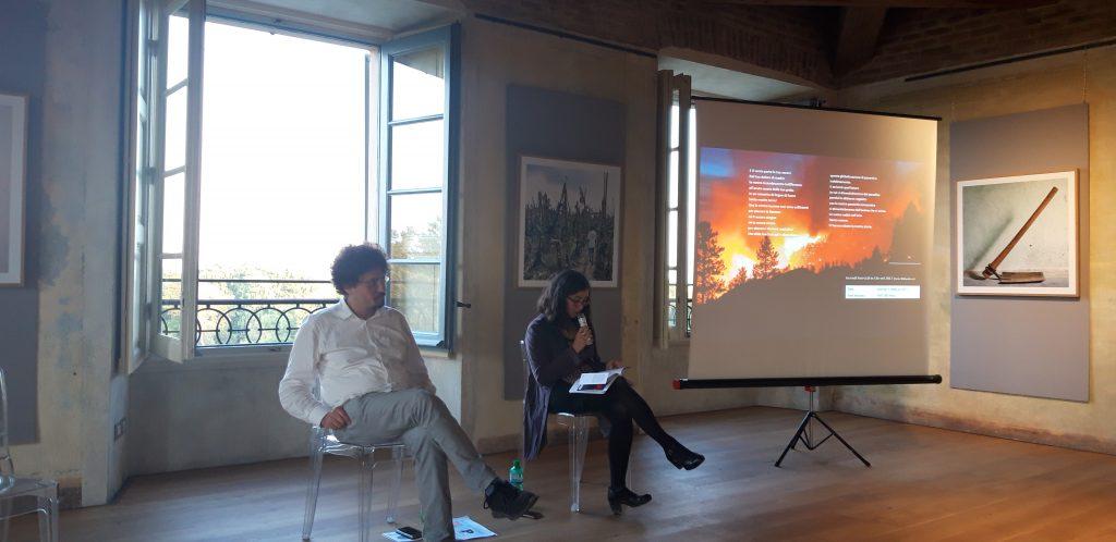 Pietro Berra e Mirna Ortiz durante la presentazione presso sala Belvedere della Reggia di Monza