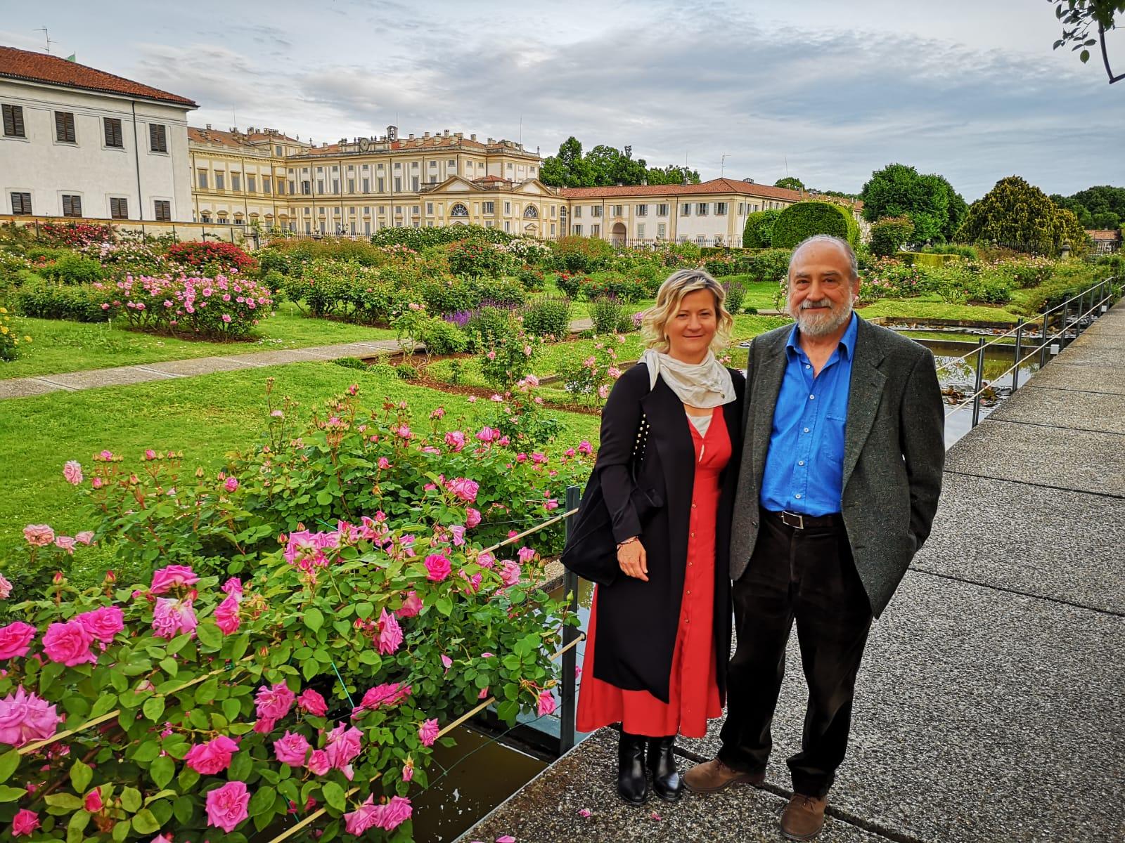 Elisabetta Motta con Luciano Ragozzino presso Roseto Fumagalli - Villa Reale di Monza