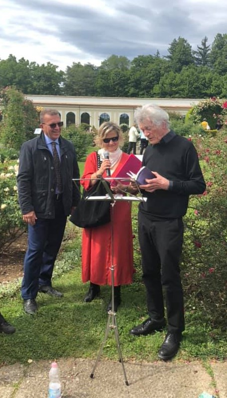 Elisabetta Motta e Alberto Nessi presso il Roseto della Villa Reale di Monza