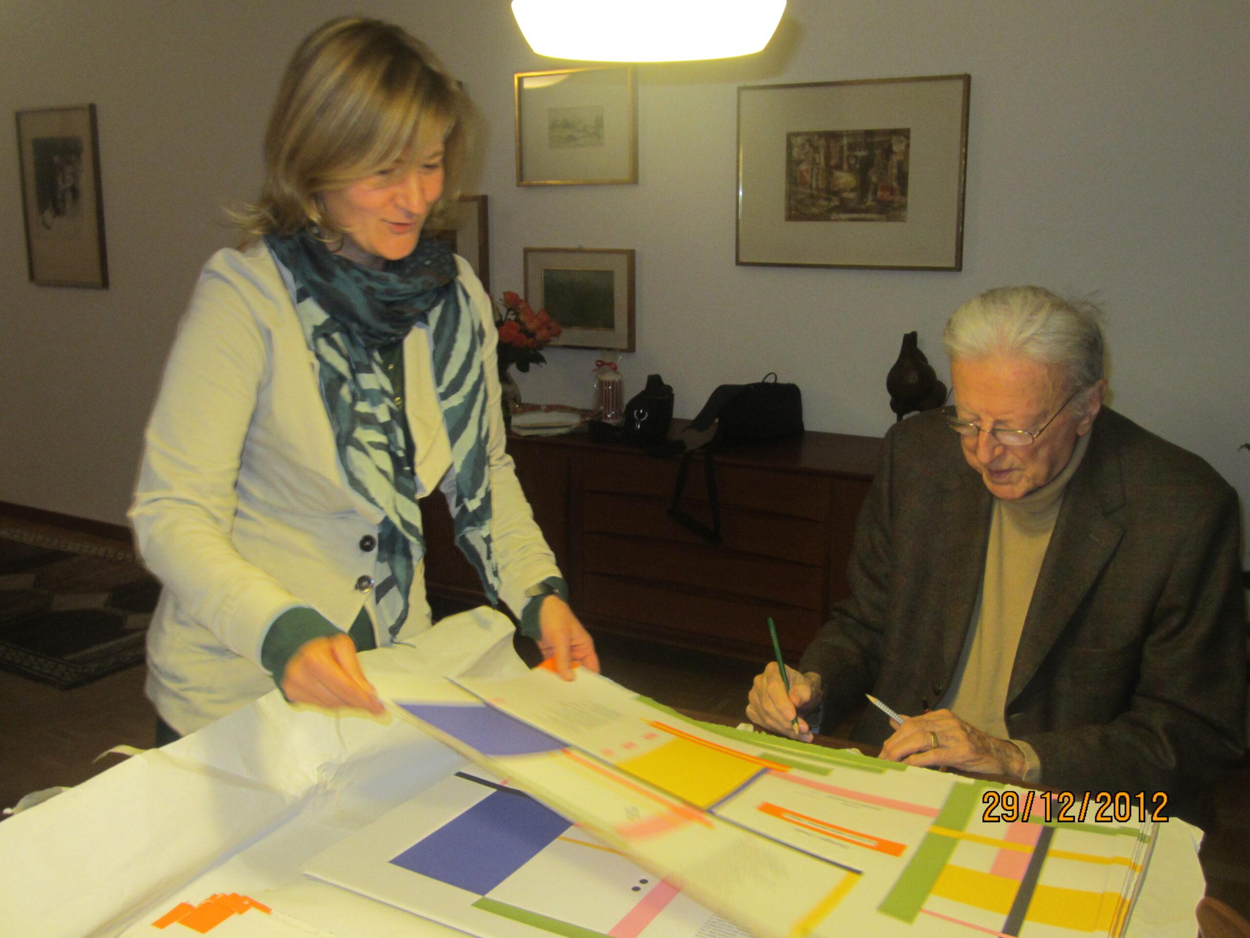 Giorgio Orelli con Elisabetta Motta - Bellinzona, 2012