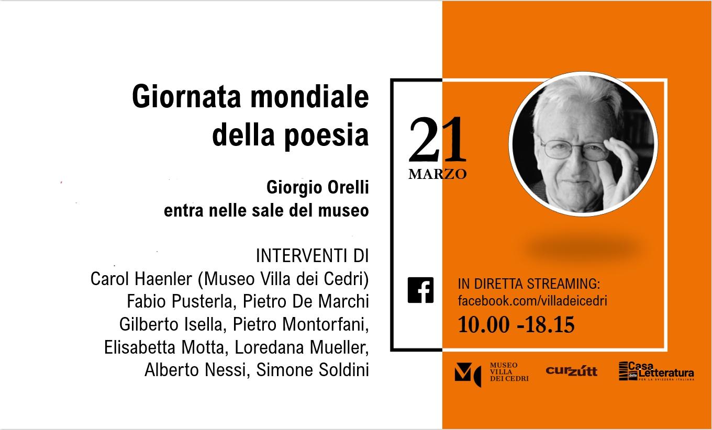 Locandina evento Giorgio Orelli - giornata mondiale della poesia