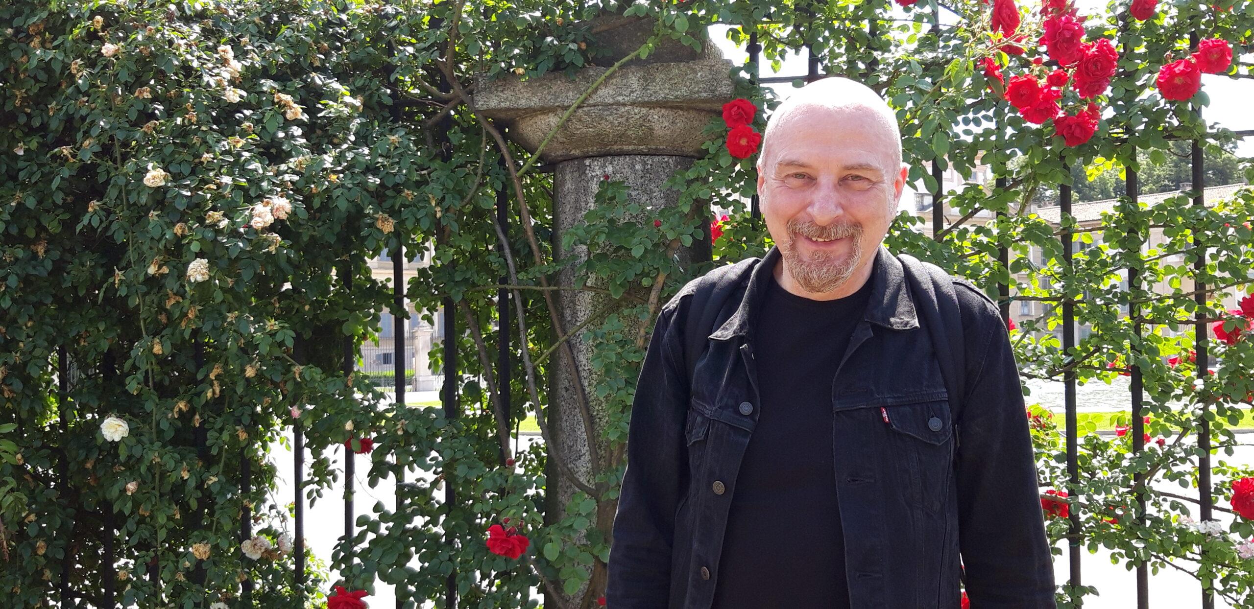 Vincenzo Zitello nel Roseto della Villa Reale di Monza